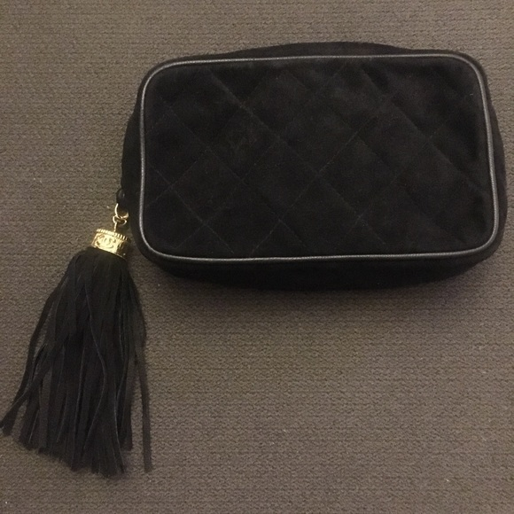 2bdc23629213 CHANEL Bags | Vintage Black Suede Quilted Clutch | Poshmark